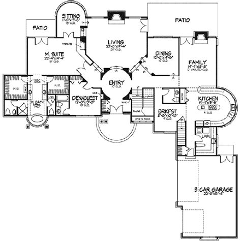 babylon manor luxury home plan   house plans