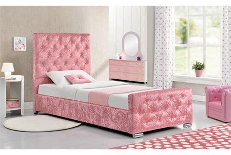 sleep design beaumont ft single crushed pink velvet