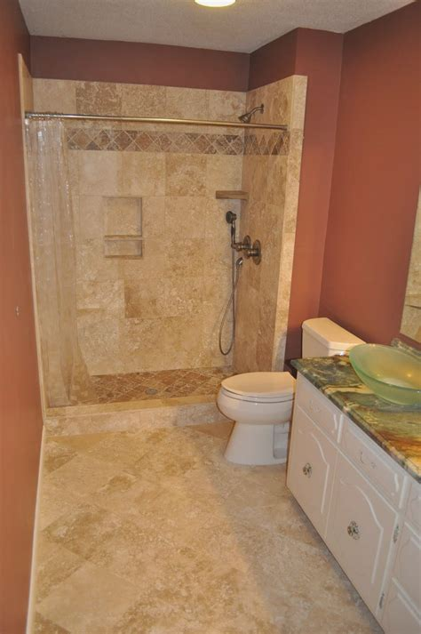 ideas of stand up shower for small bathrooms useful