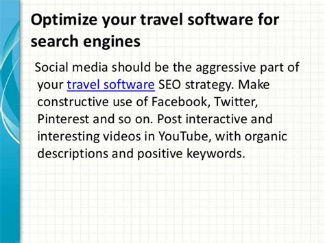 Optimizing Your Website For Search Engines by Optimize Your Travel Software For Search Engines