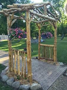 25+ best ideas about Rustic arbor on Pinterest Wedding
