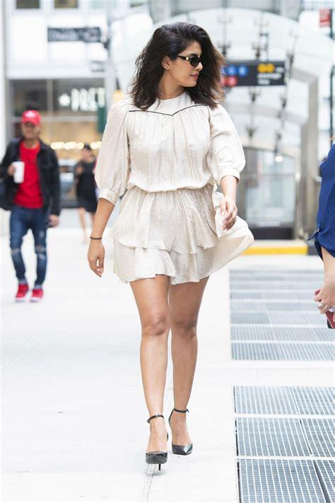 priyanka chopra  short white dress nyc