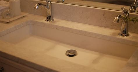 shannon schnell large trough sink with two faucets