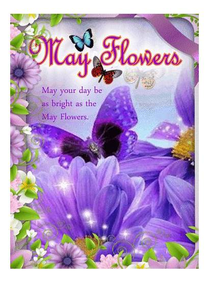 Happy Flowers Gifs Wishes Flower Spring Greetings