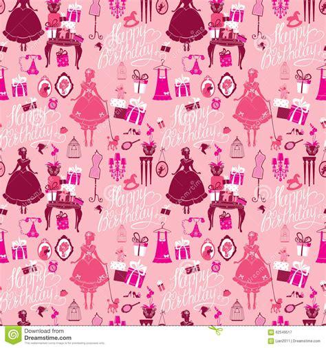 holiday seamless pattern  girls princess room