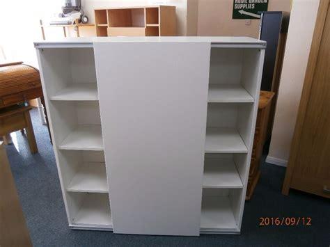 Ikea Besta Cupboard by Ikea Besta White Sliding Door Cupboard Bookcase Storage