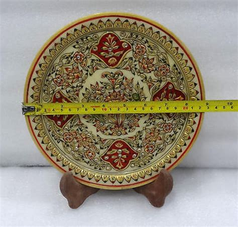 marquetry gold shining inlay home decorative marble plate christmas gift  marble decor