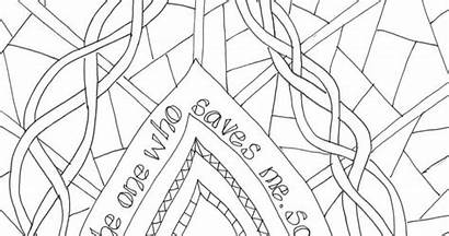 Psalm Coloring Colouring Bible Sheet Sunday Creative