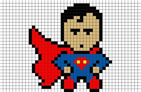 superman pixel art brik
