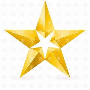 Shiny gold star with facets Vector Image #9369 – RFclipart