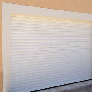 porte de garage en aluminium sur mesure motorisee enroulable With porte de garage enroulable et portail sur mesure pas cher