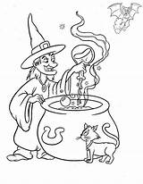 Coloring Witch Pages Potion Printable Brew Choice sketch template