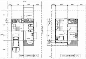 Proposed Single House Layout Plan With Car Park And
