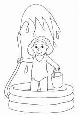Coloring Pages Water Summer Sheets Fun Printable Pool Drawing Swimming Colouring Playing Print Sheet Bucket Hand Getcolorings Colorings Getdrawings Gun sketch template