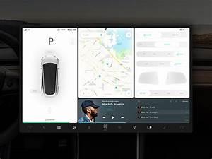 Tesla Model 3 UI by Michael on Dribbble
