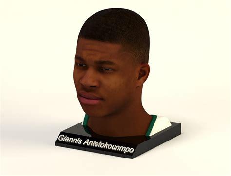 Giannis Antetokounmpo 1/4 Head Figure – PRINTSTRIKE