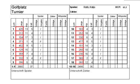excel add  zur auswertung von golfturnieren