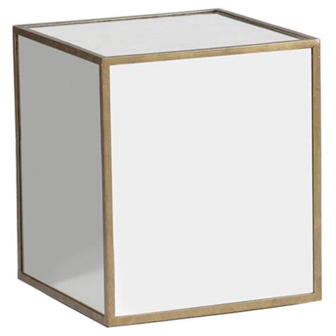 mirrored cube end table morris modern classic mirrored cube end table kathy kuo home