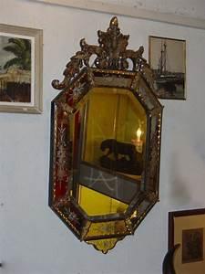 Miroir Vénitien Ancien : v ritable miroir v nitien ancien epoque xix me puces d 39 oc brocante en ligne ~ Preciouscoupons.com Idées de Décoration