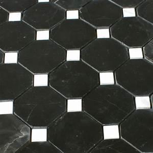 Fliesen Schachbrett Schwarz Weiss : naturstein octagon mosaik fliesen schwarz weiss poliert ht88528 ~ Markanthonyermac.com Haus und Dekorationen