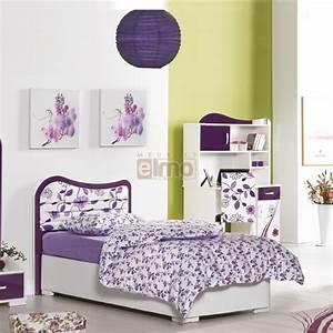 lit coffre fille tete de lit fleurie couchage 90cm vision With chambre bébé design avec serre tete fleur fille