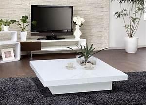 Table Basse Salon But : 1005c modern white lacquer coffee table ~ Teatrodelosmanantiales.com Idées de Décoration