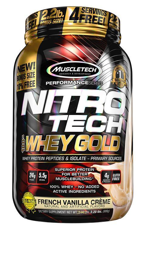 Amazon.com: MuscleTech NitroTech Whey Gold, 100% Whey