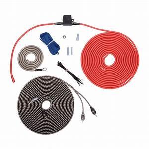 Rockford Fosgate Rfk10i  Kit W  Rca  10 Awg Amp Wiring Kit