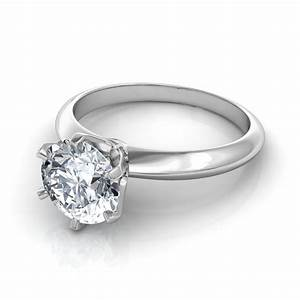 round brilliant cut solitaire engagement ring in platinum With solitaire wedding rings