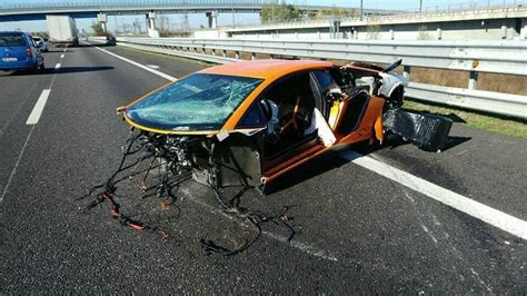 lamborghini crash  london auto bild idee