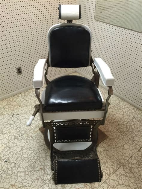 Koken Barber Chair Identification by Antique Koken Barber Chair