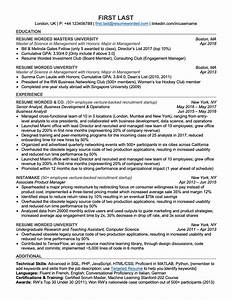 Simple Effective Resumes Professional Ats Resume Templates For Experienced Hires