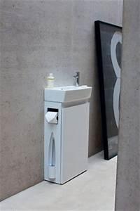 Waschbeckenunterschrank Kleines Bad : die all in one g ste wc einheit mit waschbecken und unterschrank toilettenb rste und ~ Markanthonyermac.com Haus und Dekorationen