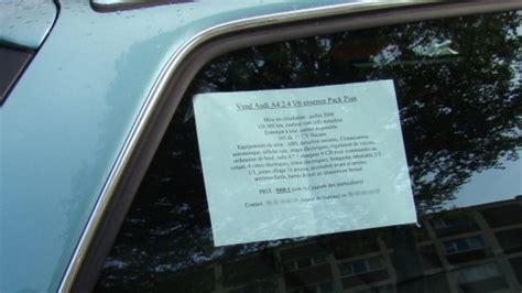 siege de voiture a vendre l 39 affichette sur la voiture ou chez les commerçants