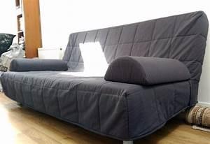 Ikea Schlafsofa Beddinge : ikea beddinge 3 seater sofa bed dark blue grey with armrests and cushions in timperley ~ Orissabook.com Haus und Dekorationen