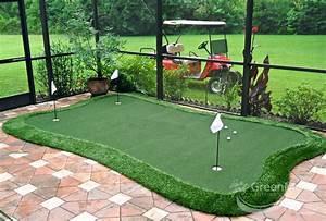 Backyard Putting Greens Artificial Grass Golf Pertaining