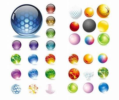 Ball Clipart Crystal Vector Texture Icon Clip