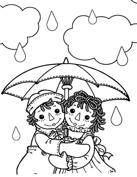 Raggedy Ann In Glass Case Free Coloring Pages