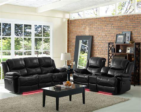 flynn premier black dual reclining living room set