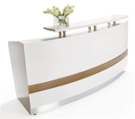 white reception desk conservatory white reception desk counter office stock