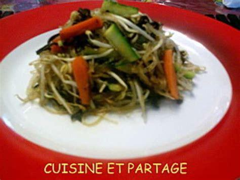 cuisine partag recettes de poelee vermicelles et soja