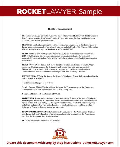 rent  option  buy rent   contract rocket lawyer