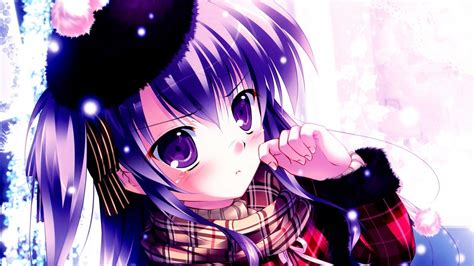 1080p Anime Girls Purple Wallpapers Wallpaper Cave