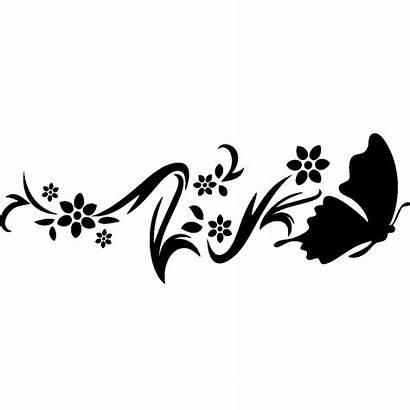 Papillon Fleur Sticker Stickers Ambiance Couleur Posavasos