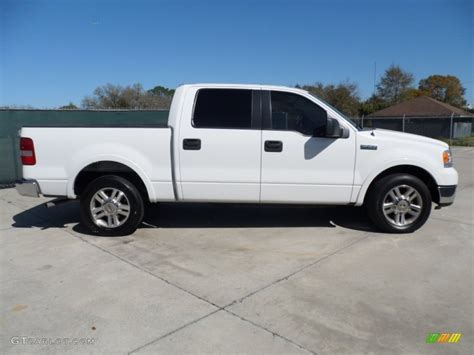 ford truck white oxford white 2005 ford f150 lariat supercrew exterior