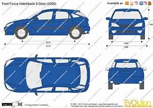 Dimension Ford Focus 3 : ford focus hatchback 5 door vector drawing ~ Medecine-chirurgie-esthetiques.com Avis de Voitures