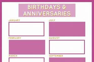 Birthday  U0026 Anniversary Planner