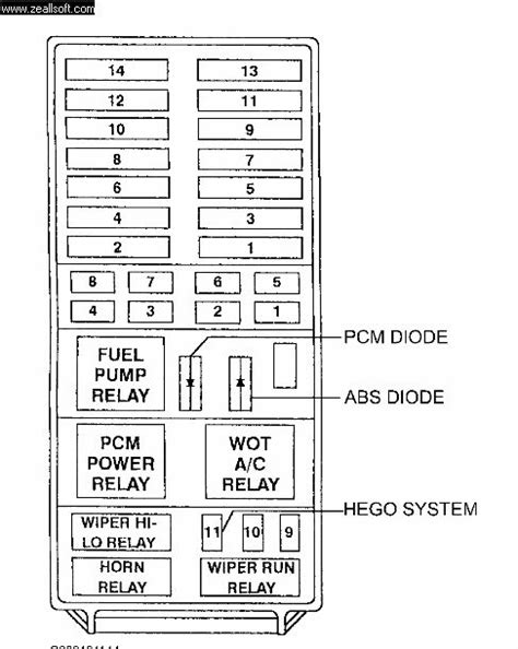 1991 Ford Explorer Xlt Fuse Diagram by Inertia Fuel Cutoff Switch Ford Explorer And Ford