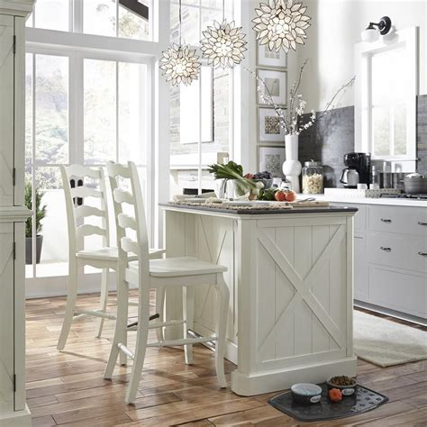 white island kitchen home styles seaside lodge rubbed white kitchen island