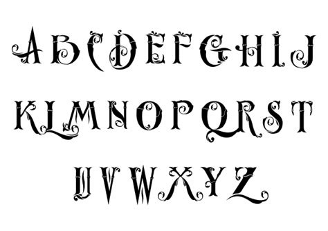 unique alphabet fonts dead tree tattoos meaning pretty